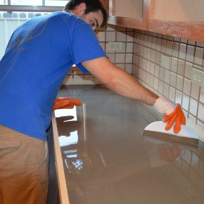 189 best concrete countertops images on pinterest cement cement using self leveling concrete to re do a tile countertop diaries of a solutioingenieria
