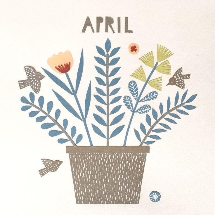 Calendar picture, April