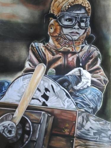 "Saatchi Art Artist Lize Du Plessis; Drawing, ""Flying Dream"" #art"