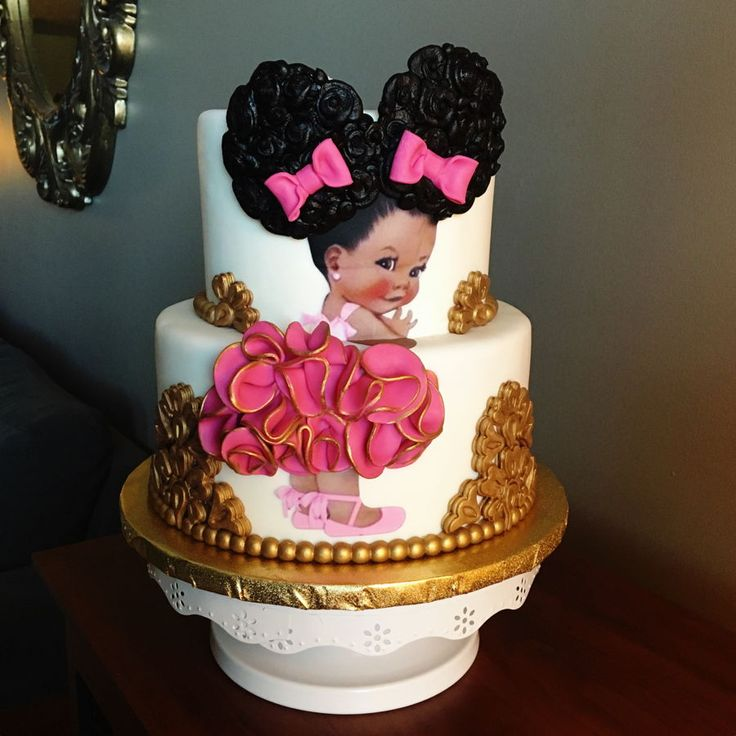 Afro Puff Baby Cake Afro Puff Baby Cake White Cake With
