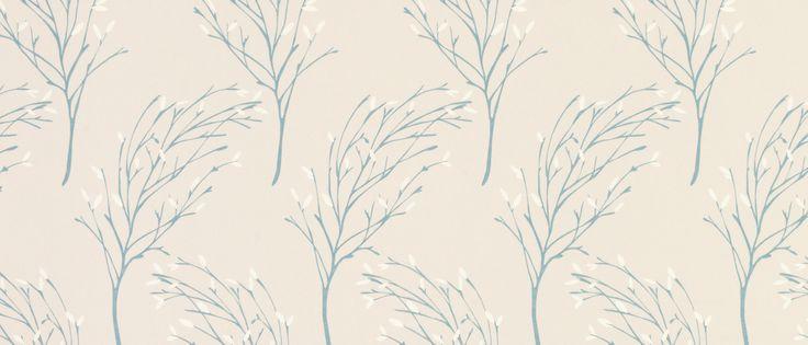Sycamore Duck Egg Wallpaper at Laura Ashley