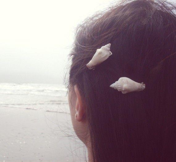 Conch Seashell Barrettes Sea Shell Barrettes Sea Shell capelli clip Seashell capelli Clip sirena capelli Clip Beach Wedding capelli accessori estate