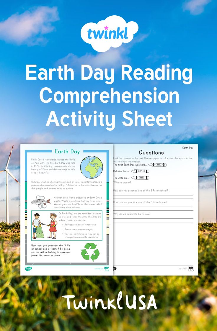 Learn about the celebration of Earth Day with this reading