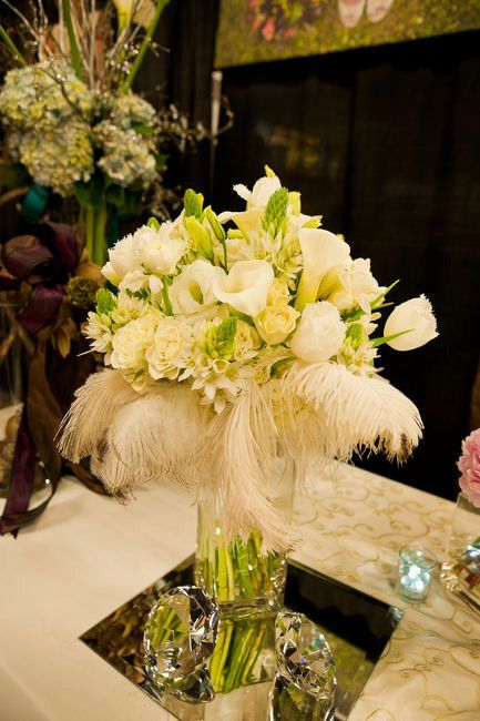 Feathers And Flowers Centerpieces Google Search Wedding Song Of