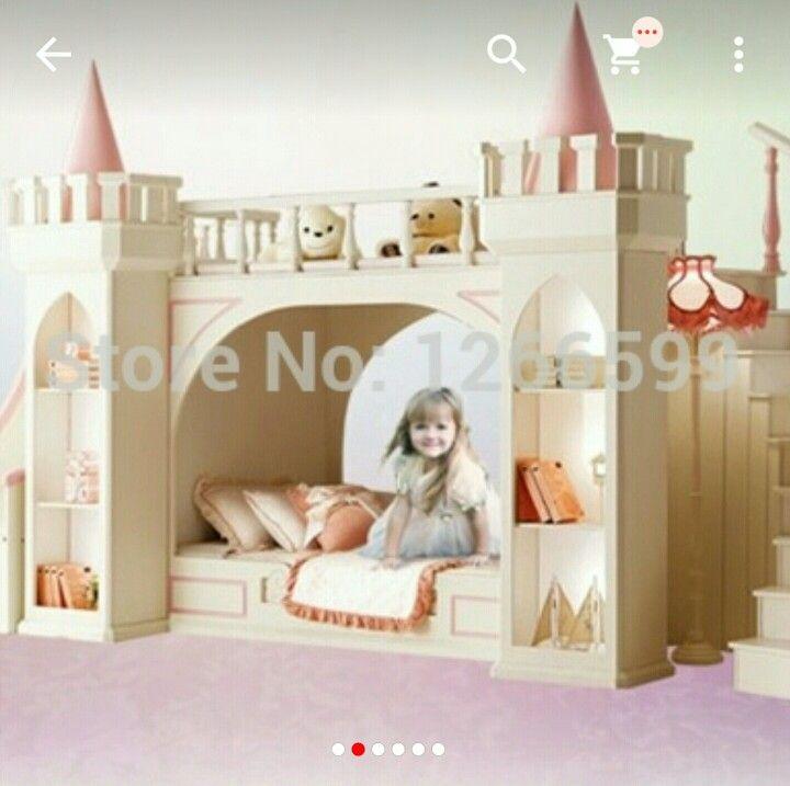 Prinsess säng m rutschkana