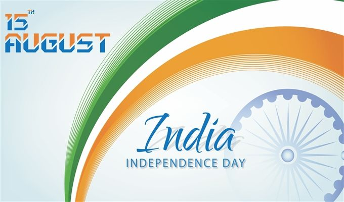 India 15 August Independence Day Greeting On Flag Wallpaper