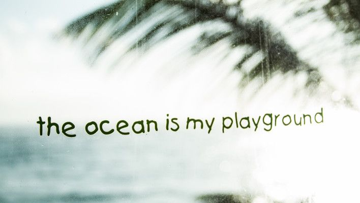 The Ocean is my Playground - Wallpaper