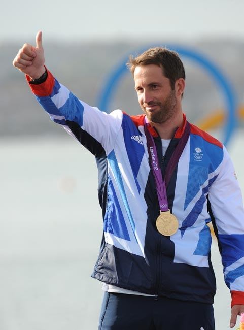 Ben Ainslie - GOLD, Men's Finn Sailing. Saw in Falmouth at Olympics torch relay and book-signing in Henry Lloyd shop.