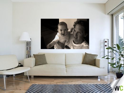 Mother's Day gift ideas; wall art of an excited Maddie and her uncle David!