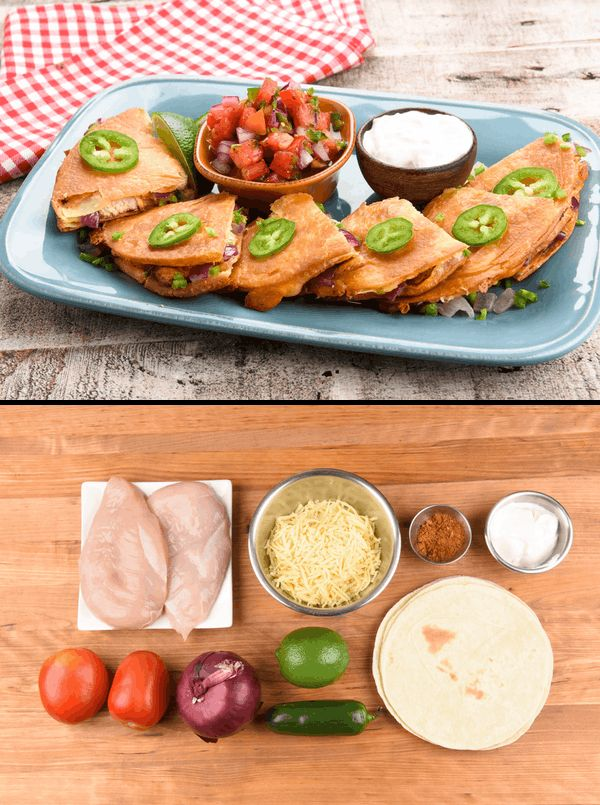 Make yourself a dang quesadilla thanks to Home Chef! This deceptively simple meal goes all in on flavor and comfort, but goes light on cleanup! Major win-win there. Our smoky seasoning blend for the chicken packs an earthy cumin-chile punch, while fresh tomato salsa come correct with creamy freshness and just a touch of heat.