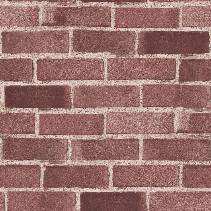 Grace & Gardenia G05C8804 Classic Red Brick Wallpaper in