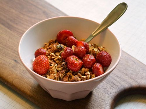 Peanut butter granola sweetened with stevia instead of sugar! I would also use chunky peanut butter...or even somehow use chocolate PB2