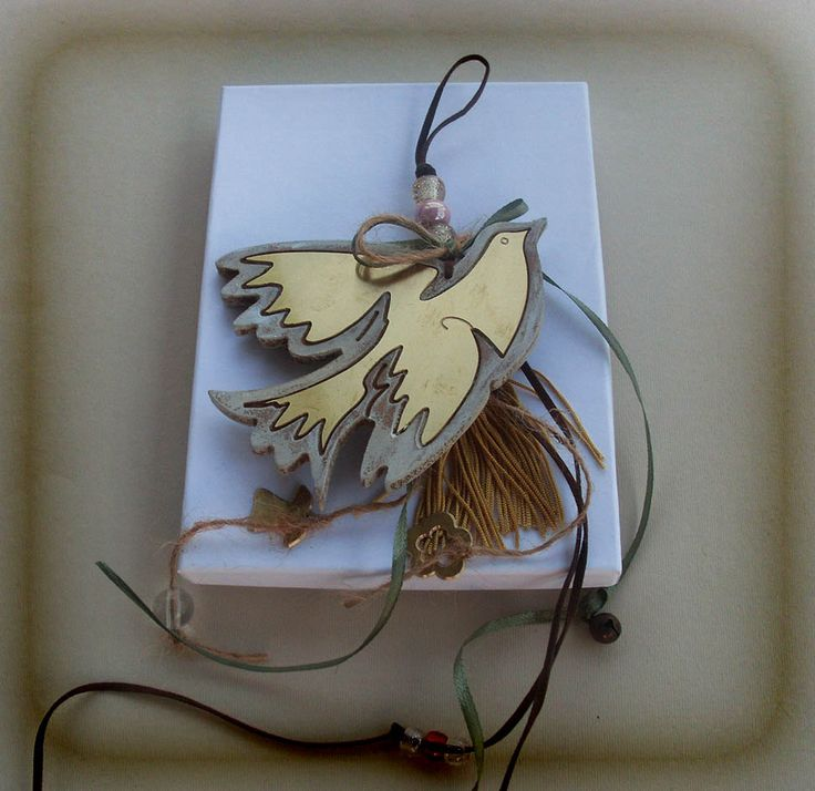 WOODEN DOVE / Lucky Charm / Picasso Inspired Art by allabouthandicraft on Etsy