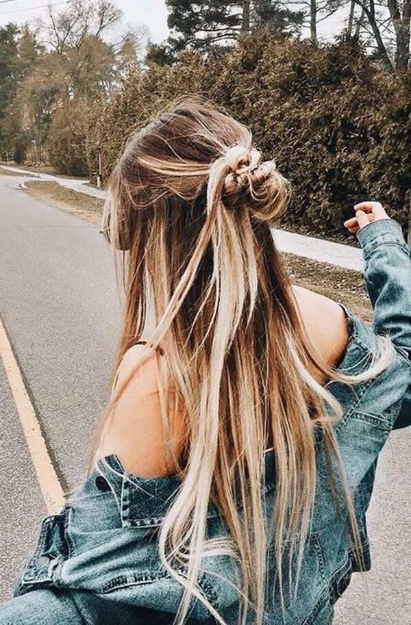 Easy Long Hairstyles You Can Wear To Work Hairstyles For Long Hair Easy Hair Hairstyle Work Hairstyles Long Human Hair Wigs Long Hair Styles