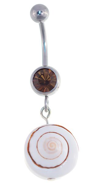 Need some #BeachVibes in your life? Get our Island Seashell Belly Button Ring-14 gauge! http://www.body-jewelry-shop.com/Island-Seashell-Belly-Button-Ring-14-gauge-Brown-Jeweled-Dangle-Beach-Navel-Body-Jewelry.html