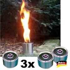 3x Fackeltöpfe 3h Brennzeit Partyfeuer Garten Anzündschale Wachsfackeln Flamme