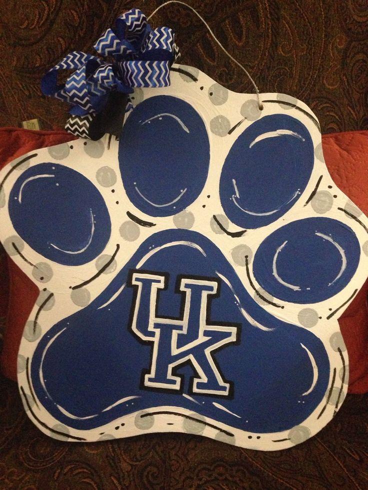 University of Kentucky Wildcats Door Decor UK Door Hanger UK