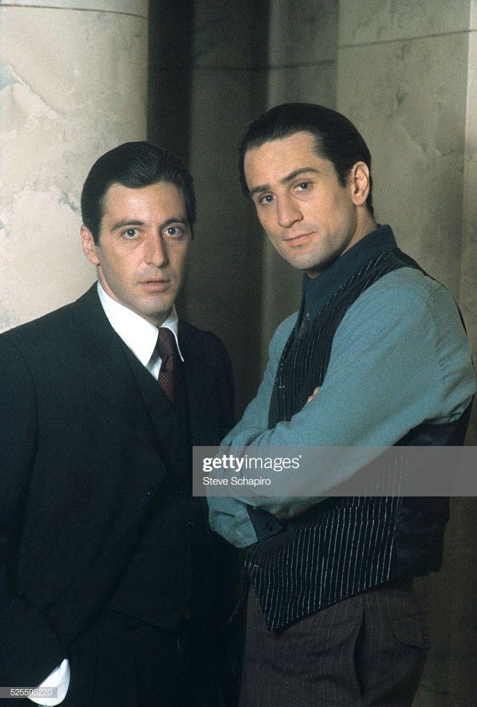 Al Pacino And Robert De Niro In The Godfather Part Ii The
