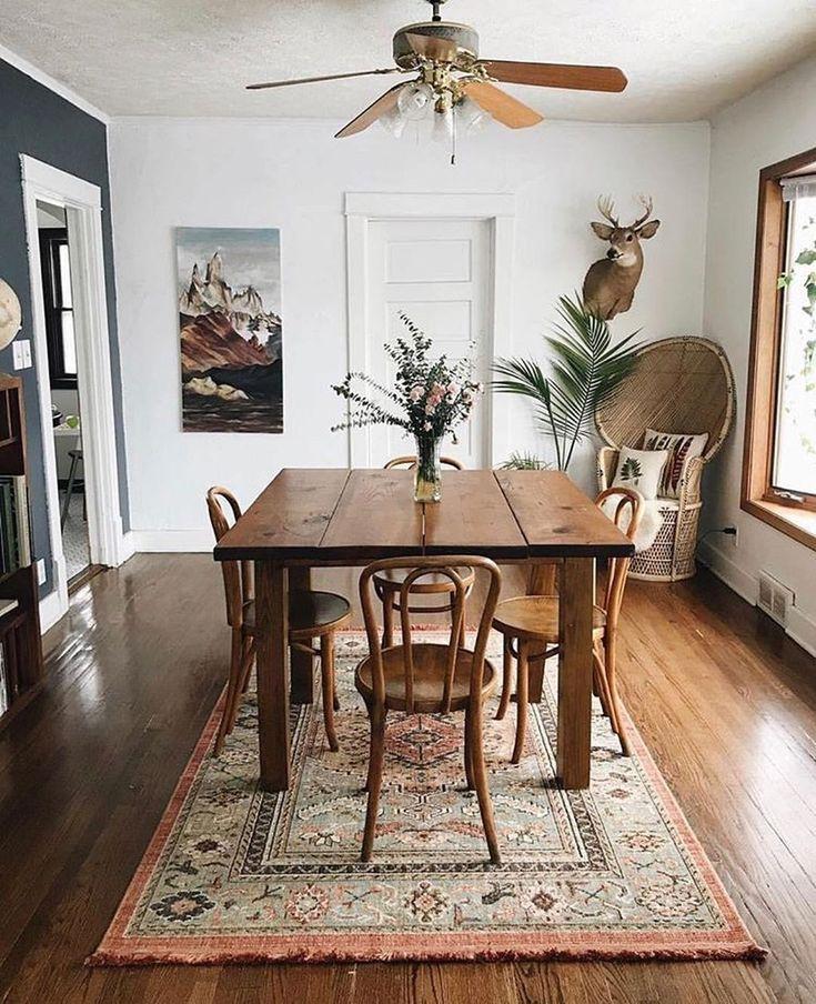 Esszimmer Dekor Ideen, Rug Under Dining Room Table