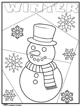 This is a fun and great way for your younger students to practice their coloring and cutting skills. Have your students color, cut out on the dotted lines and store in a Ziploc bag.  Students can recreate the puzzle in centers, indoor recess or for homework.