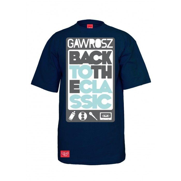 Koszulka GAWROSZ BACK granatowa - Koszulki :: www.el-polako.com
