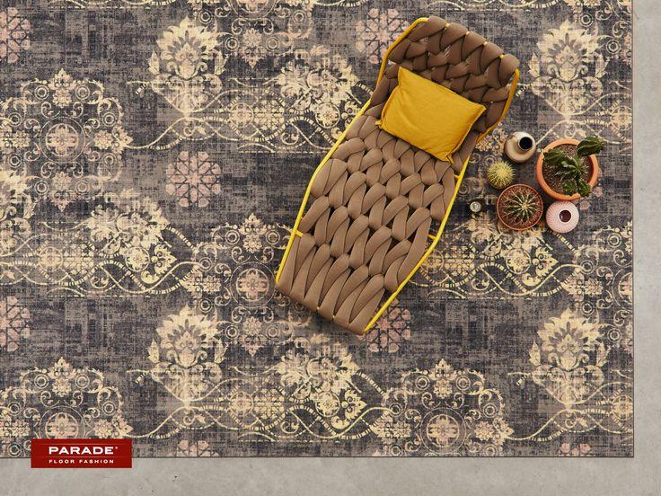 Een #vintage vloerkleed met stonewashed effect. Elegant en stijlvol.