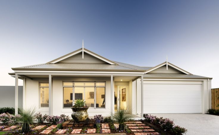 Traditional elevation with rendered facade, feature gables and wrap around verandah
