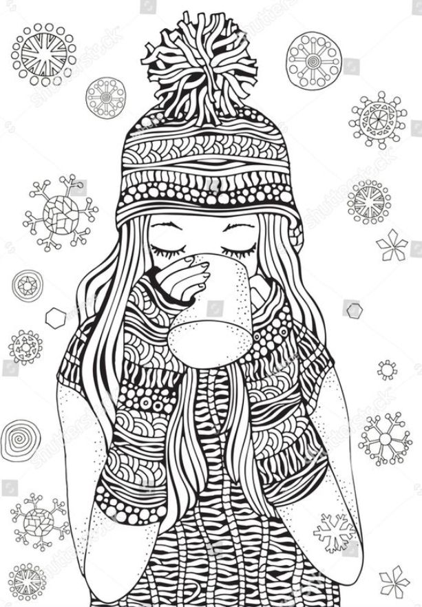 Winter Girl Gifts Winter Snowflakes Adult Stock
