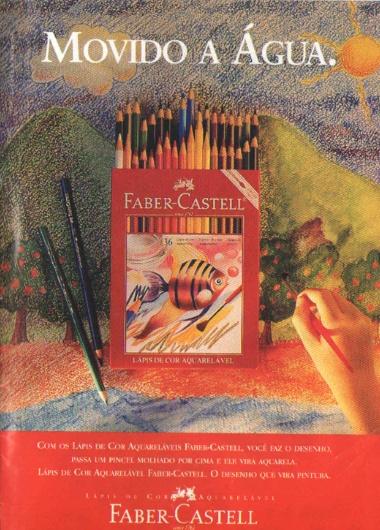 Lápis de cor aquarelável Faber- Castell (1997)