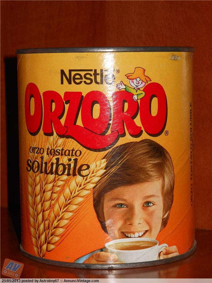 Il bambino sui vecchi barattoli dell'Orzoro