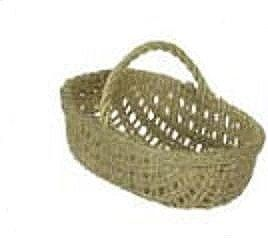 Dollhouse Miniature Empty Market Rectangular Basket by Town Square Miniatures. $2.99. Miniature Empty Market Basket made of a straw like fabric. Designed for the 1:12 scale miniature setting.  Measures: 3/4 in tall x 1 1/8 in wide x 5/8 in deep. By Town Square Miniatures.