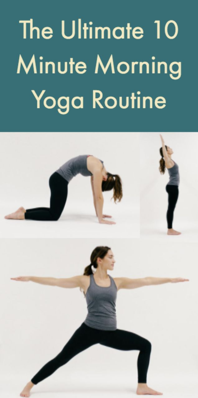 Need a little more energy to start your workday right?  Try on this 10 minute yoga sequence for size to balance your body and focus your mind.