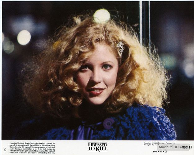 Nancy Allen in Dressed to Kill 1980 Brian de Palma Thriller