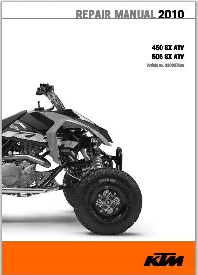 ktm 450 sx atv 505 sx atv 2010 workshop service repair. Black Bedroom Furniture Sets. Home Design Ideas