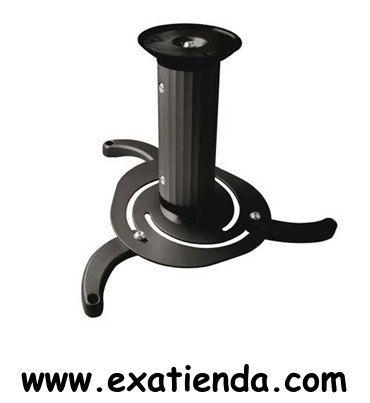 Ya disponible Soporte proyector de techo giratorio    (por sólo 24.99 € IVA incluído):   - Soporte metálico giratorio e inclinable para proyector - Carga máxima: 10kg - Distancia entre techo y proyector: 80mm ó 170mm - Angulo inclinación: -15º ~ +15º - Angulo de giro: 360º - Color: negro  -P/N: PJ1010TN-B Garantía de 24 meses.  http://www.exabyteinformatica.com/tienda/782-soporte-proyector-de-techo-giratorio #soportes #exabyteinformatica