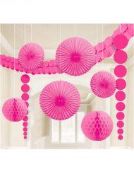 Kit di 9 decorazioni rosa