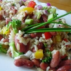 Brown Rice Salad with Kidney Beans and Almonds @ allrecipes.com.au