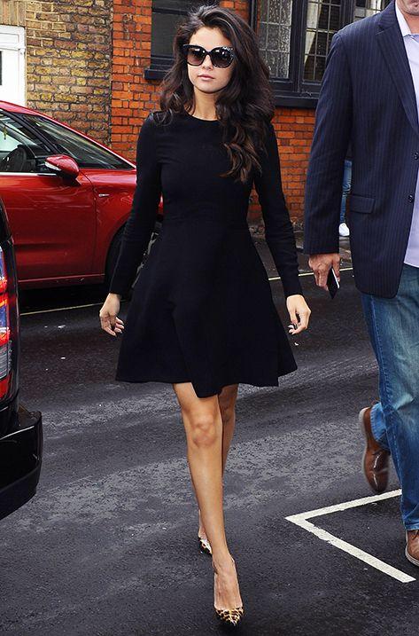 Selena Gomez wearing the Jimmy Choo NITA sunglasses