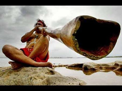 Australian aboriginals. Australian native music (didgeridoo). Overview with images and music