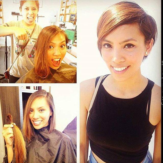 simple easy short haircut - pixie cut with long bangs