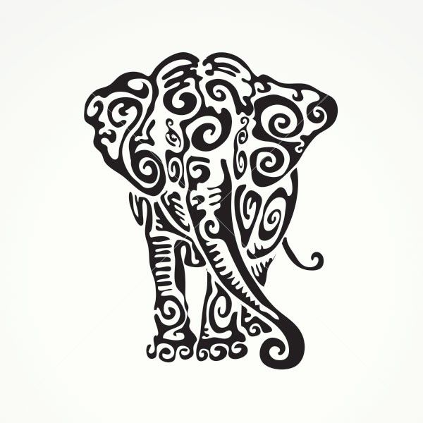 tribal animal coloring pages - 25 best ideas about tribal elephant tattoos on pinterest
