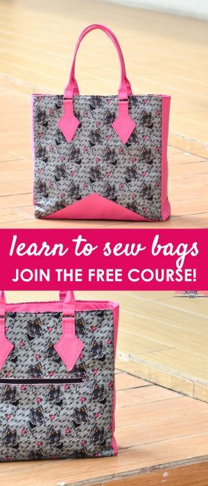learn to sew bags | free bag patterns | purse patterns | handbag patterns | free sewing patterns