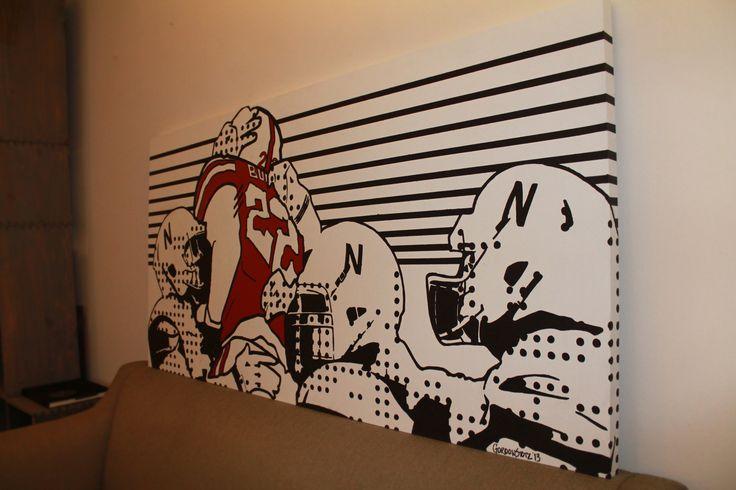 Husker Man Cave Ideas : Nebraska football pop art pinterest