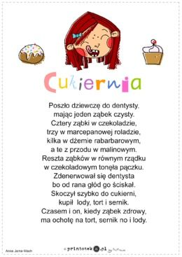Cukiernia - wiersz - Printoteka.pl