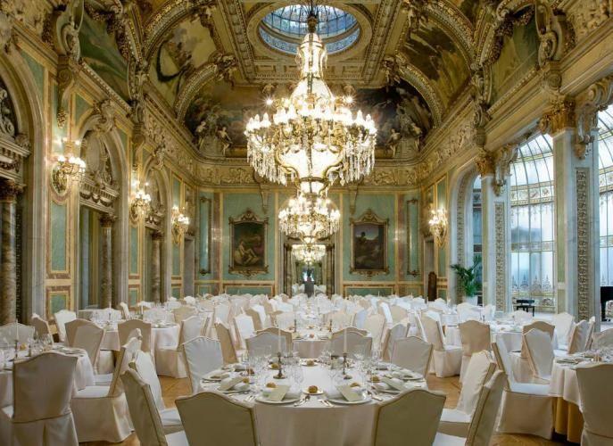 Reception In Ornate Westin Palace Madrid Spain Destination Weddings And Honeymoons 2018 Pinterest Wedding Venues Spanish