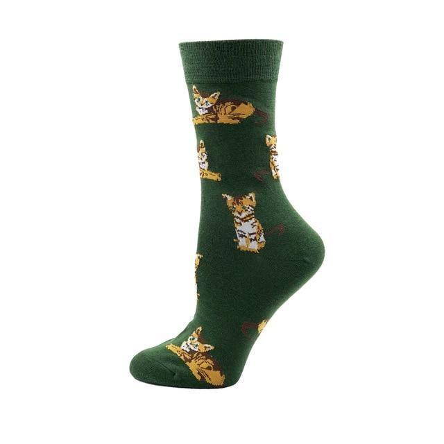 KaleaBoutique YEADU 85% Cotton Women's Socks Harajuku Colorful Cartoon Cute Funny Kawaii Dog Cat Pig Fox Space Socks for Female Christmas Gift