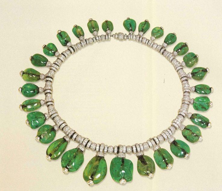 Merle Oberon Cartier Emerald Necklace