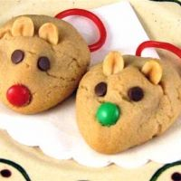 Peanut butter cookie mice.  So cute and perfect for the holidays.