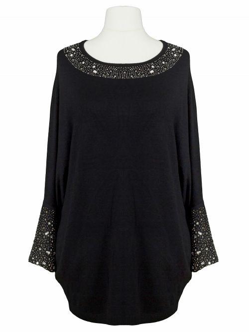 Damen Pullover Strass, schwarz von C.M.P. 55 bei www.meinkleidchen.de