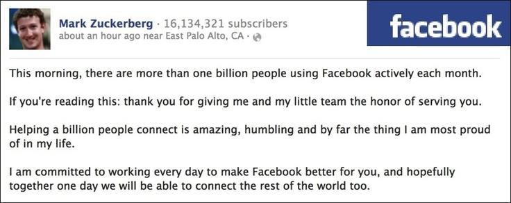 Facebook runder en milliard brukere  - VG Nett